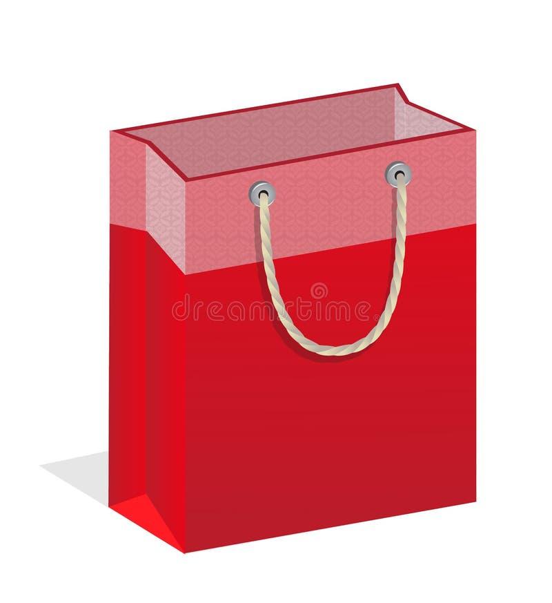 Rött märkt hänger lös royaltyfri illustrationer