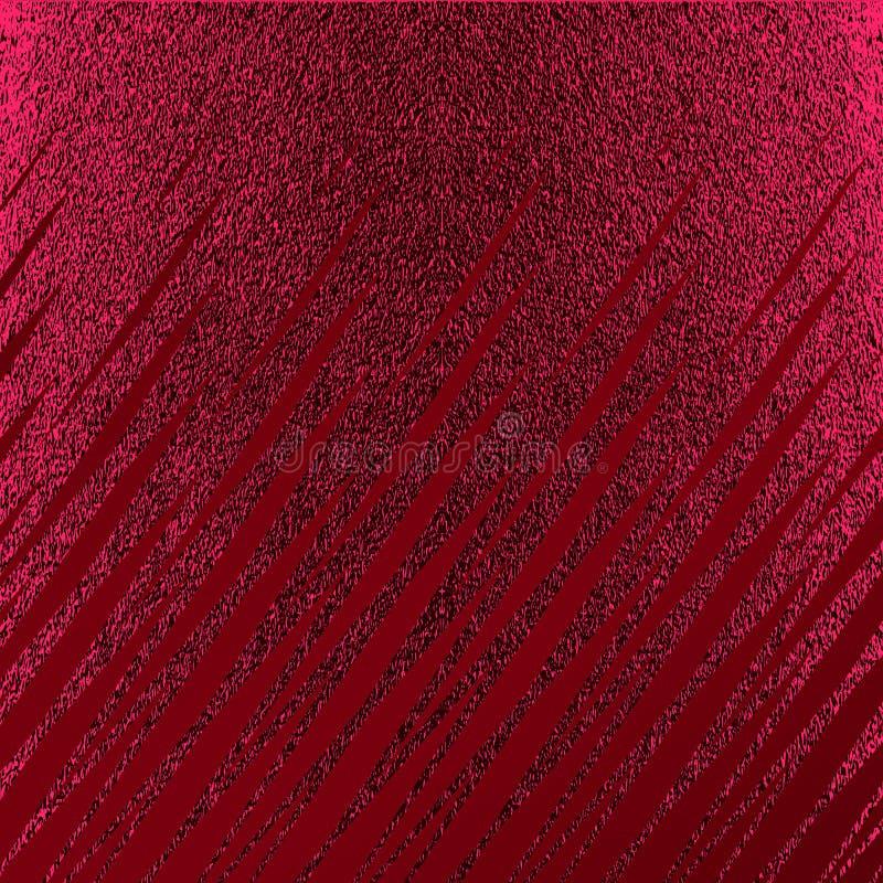 Rött mönstra Abstrakt crimson bakgrund Rödbrun vektorillustration Scharlakansrött blänker band Mörker - röd folietextur Lyxig pat stock illustrationer