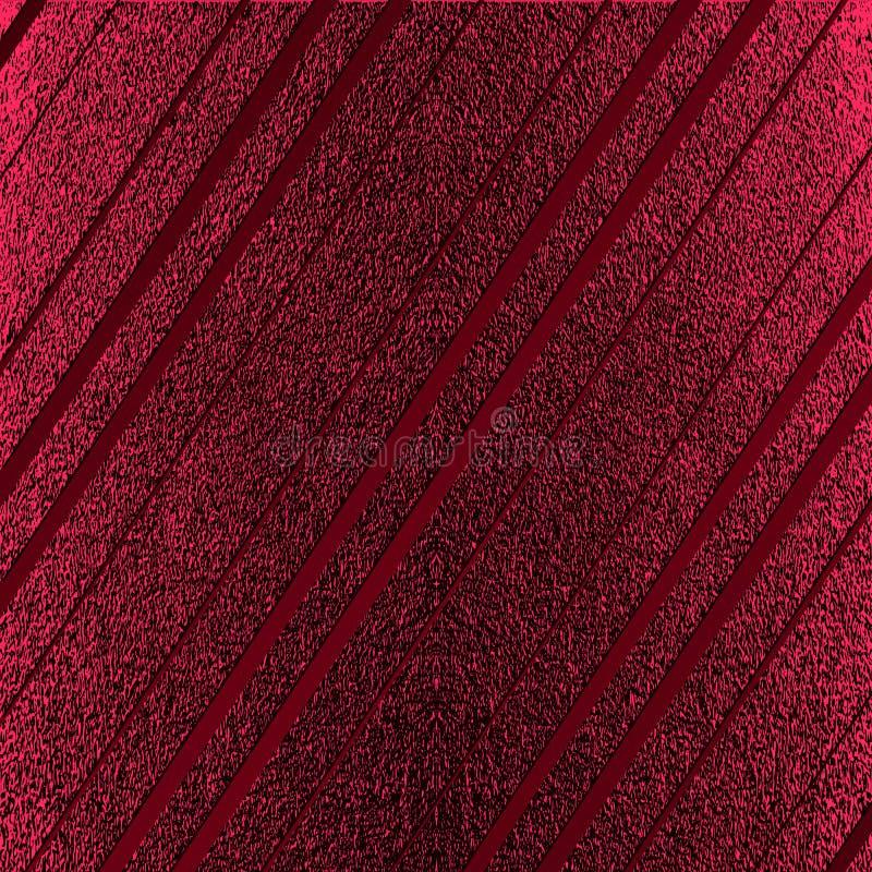 Rött mönstra Abstrakt crimson bakgrund Rödbrun vektorillustration Scharlakansrött blänker band Mörker - röd folietextur Lyxig pat vektor illustrationer