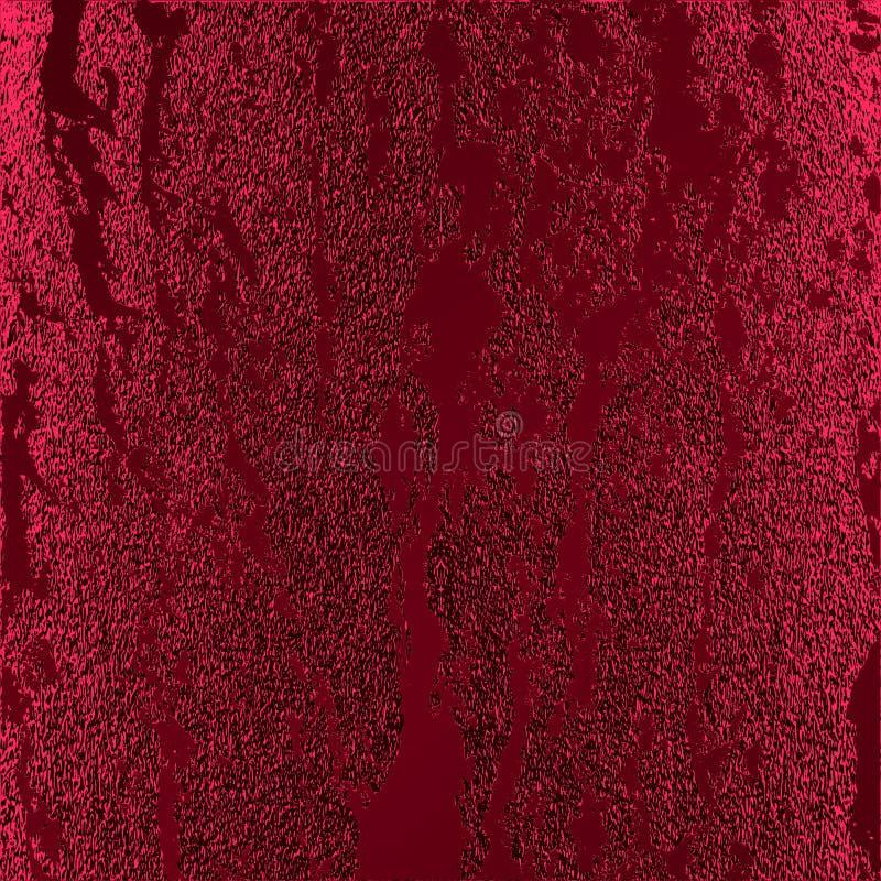 Rött mönstra Abstrakt crimson bakgrund Rödbrun vektorillustration Scharlakansrött blänker band Mörker - röd folietextur Lyxig pat royaltyfri illustrationer