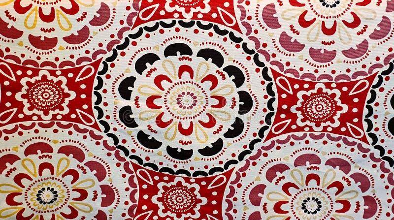 Rött mönstra bakgrund royaltyfri foto