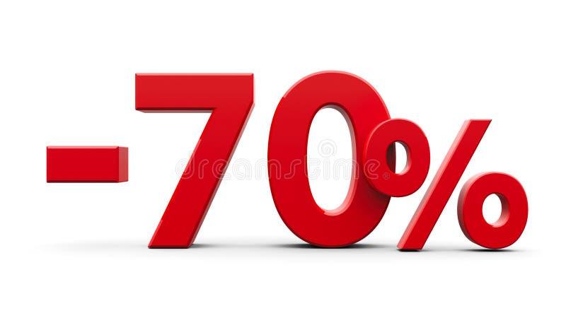 Rött negativ sjuttio procent vektor illustrationer