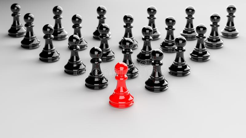 Rött pantsätta av schack stock illustrationer