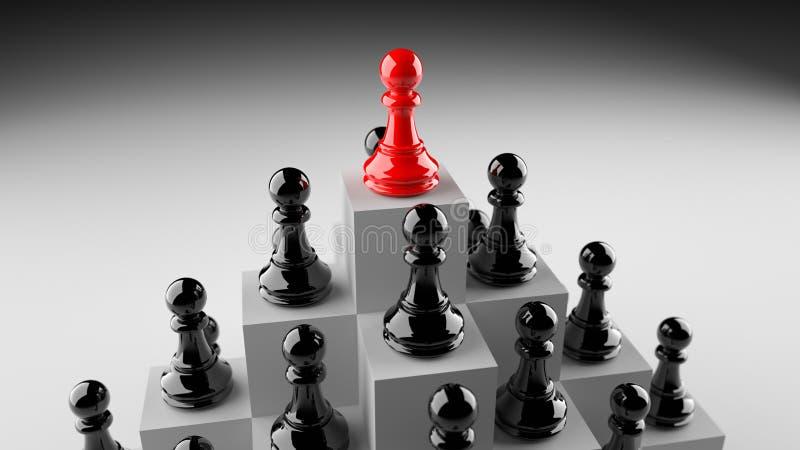 Rött pantsätta av schack vektor illustrationer