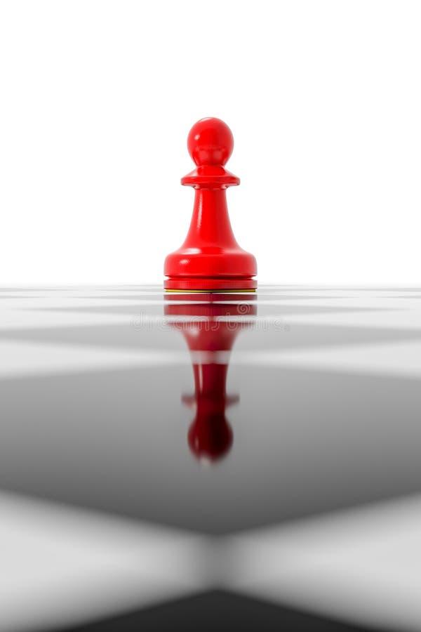 Rött pantsätta på ett schackbräde royaltyfri illustrationer