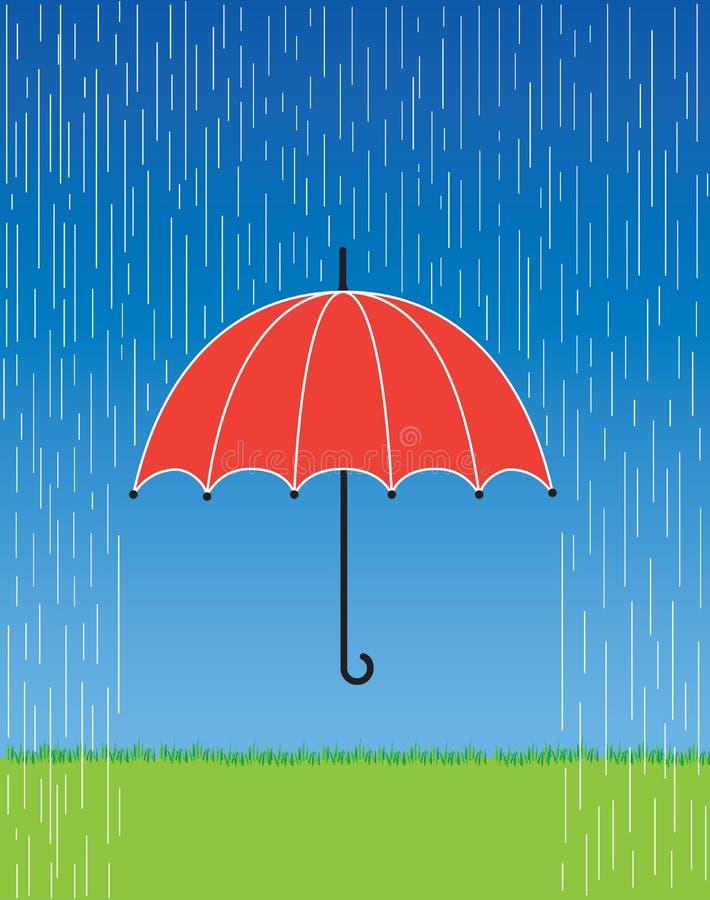 rött paraply vektor illustrationer