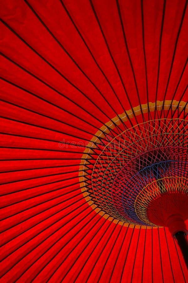 rött paraply royaltyfri fotografi