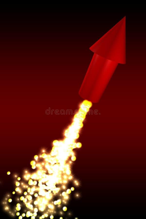 rött raket vektor illustrationer