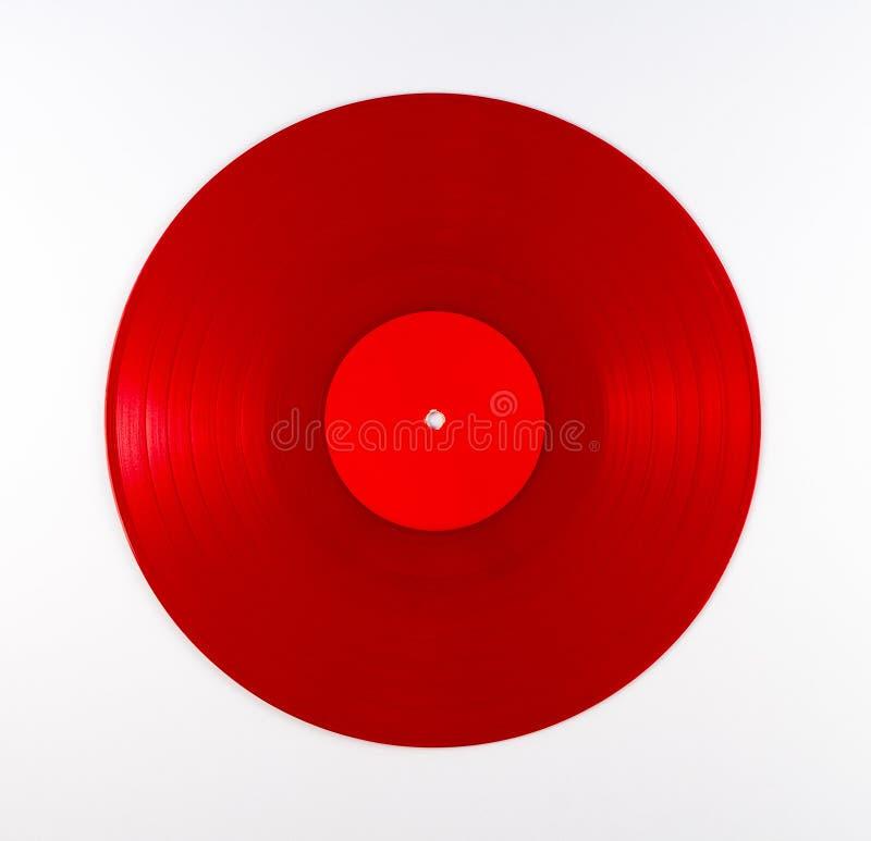 Rött rekord- album för vinyl royaltyfria foton