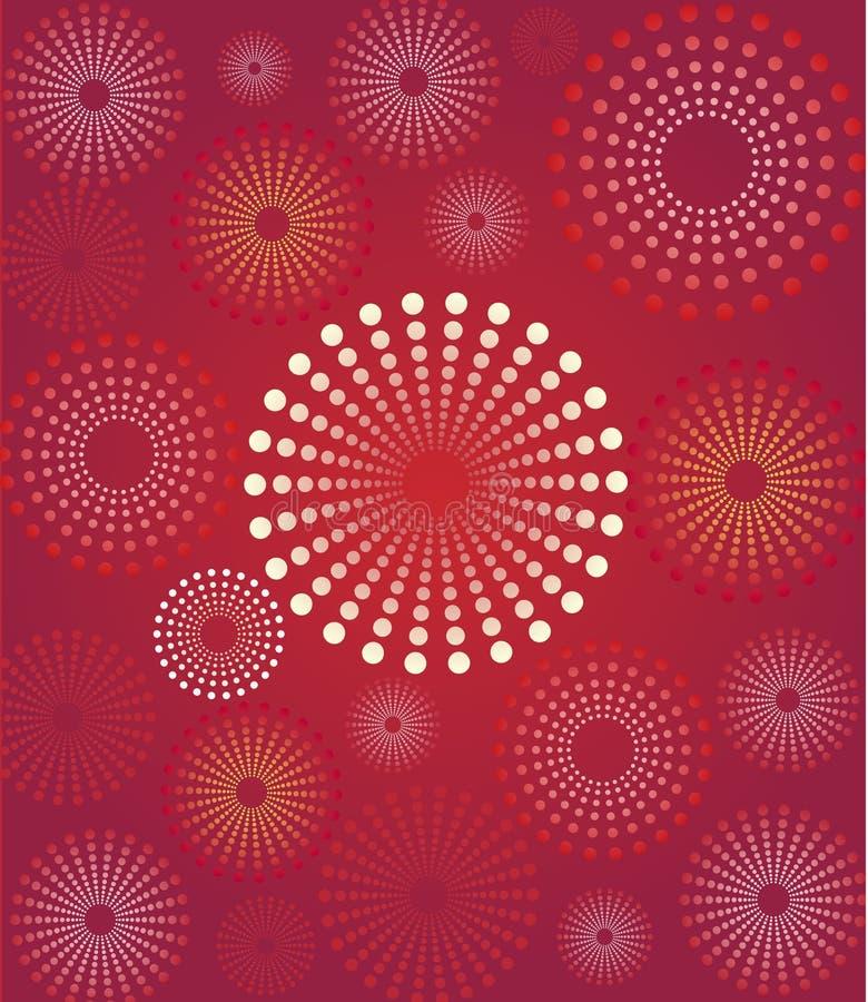 rött retro för bakgrundsblomma stock illustrationer