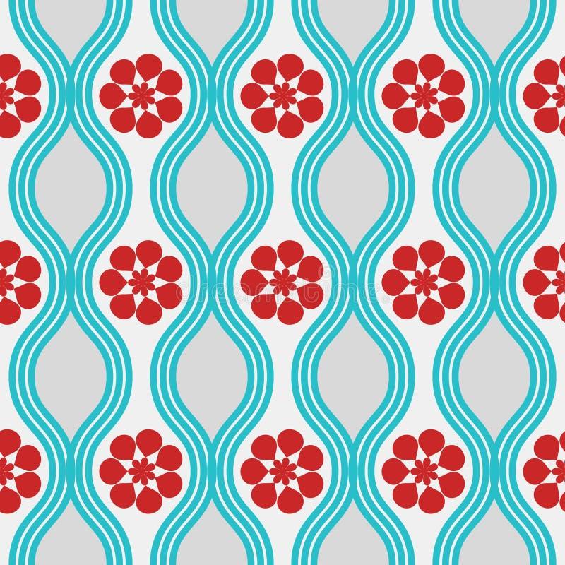 rött retro för blå modell vektor illustrationer