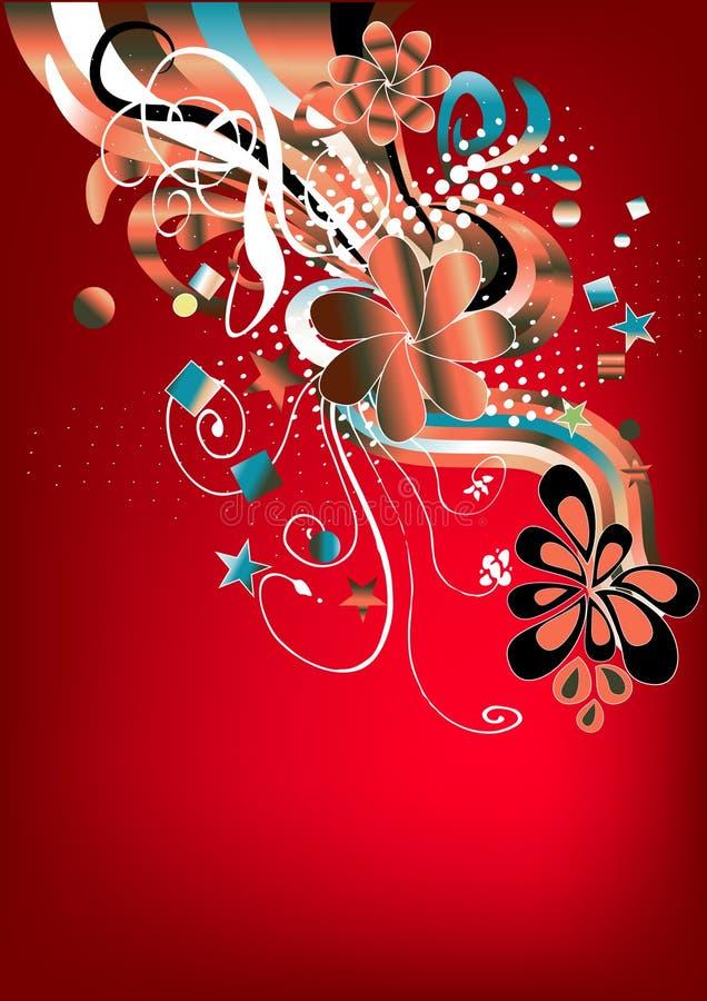 rött retro för skraj diagram vektor illustrationer