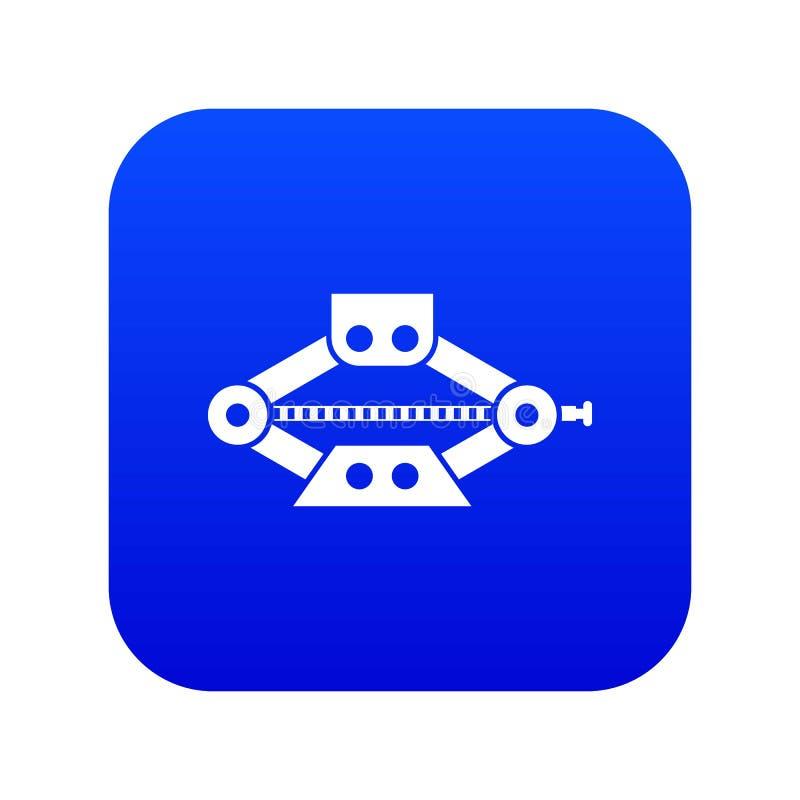 Rött scissor digitala blått för bilstålarsymbolen stock illustrationer