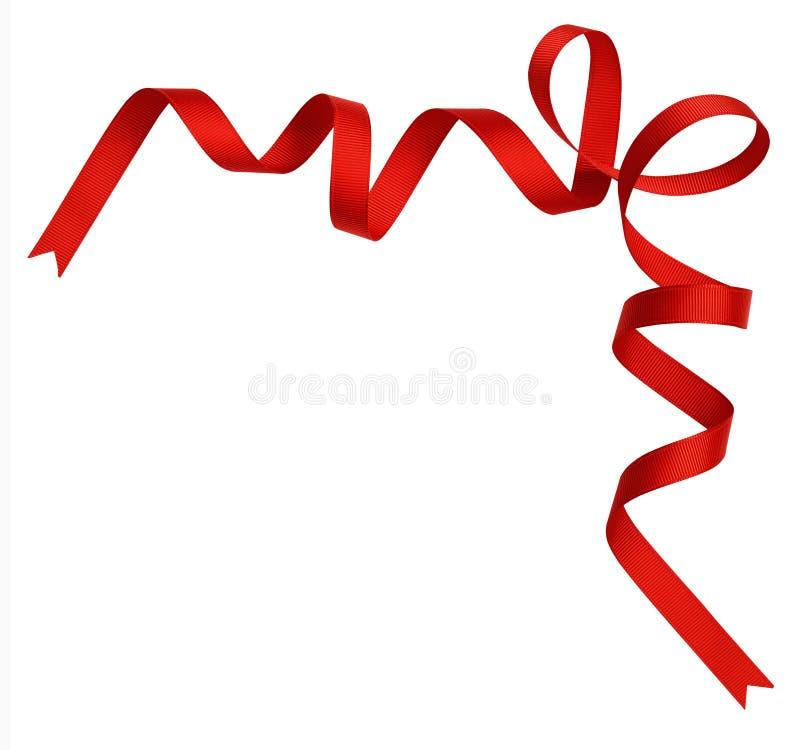 Rött siden- bandhörn arkivfoto