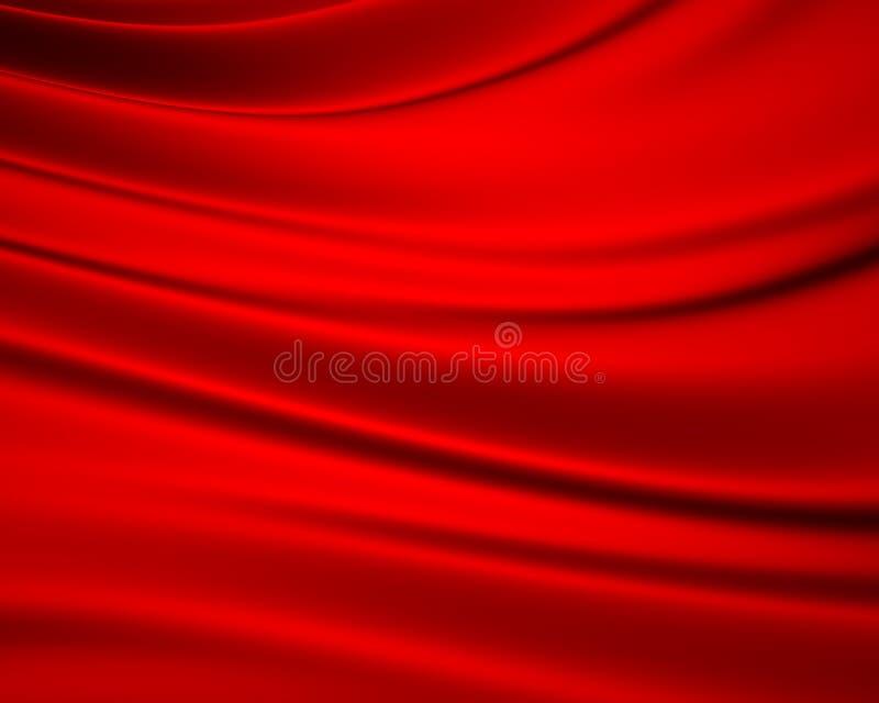 rött silkeslent för bakgrund stock illustrationer