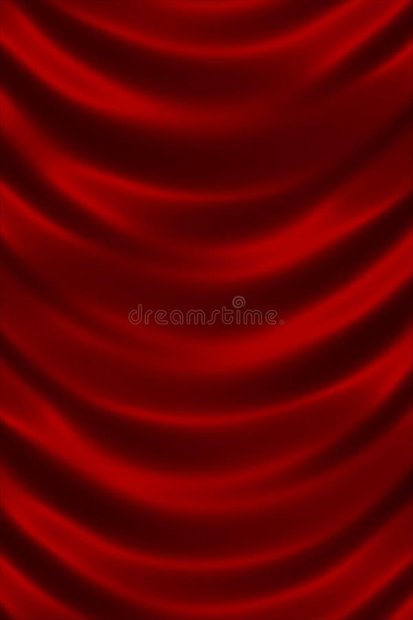 Rött skinande siden- texturslut upp royaltyfri illustrationer