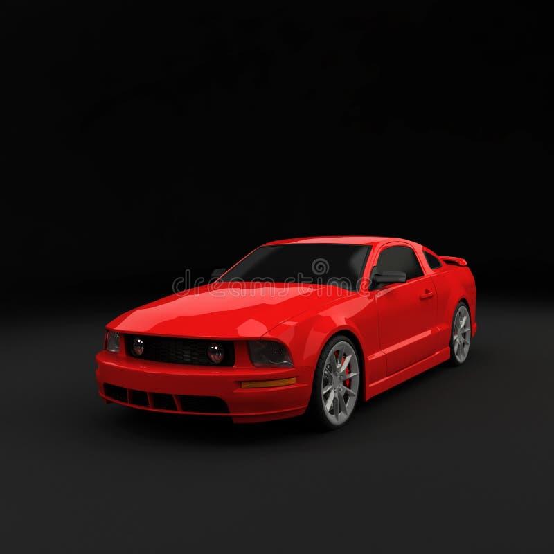 rött sportscar fotografering för bildbyråer