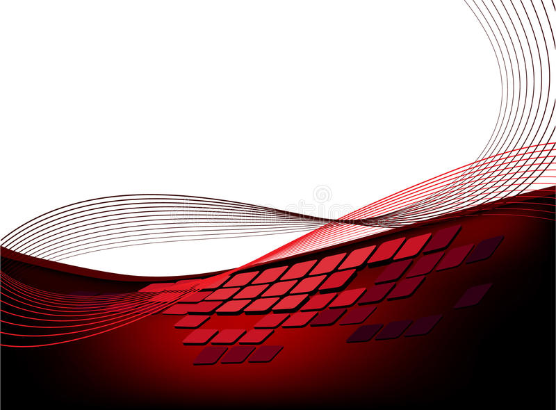 rött stads- för bakgrund stock illustrationer