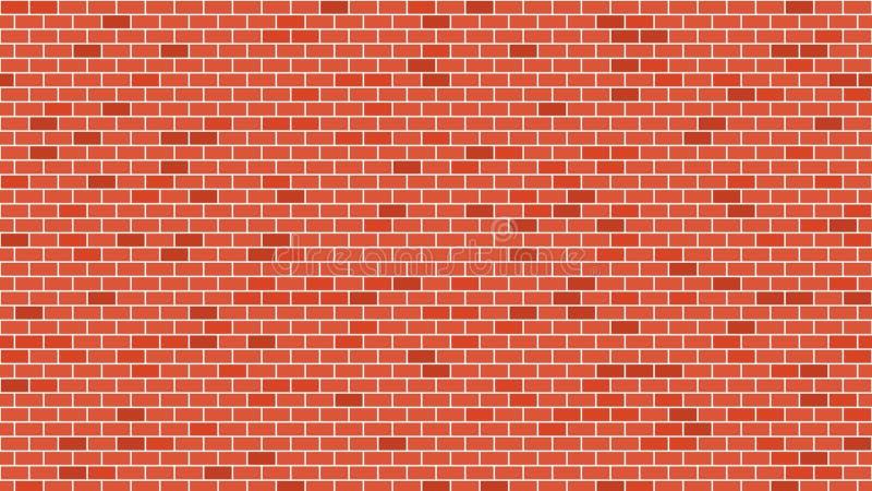 Rött stena textur för tegelstenväggen för bakgrund eller bakgrund Med upplösning 4k royaltyfri illustrationer