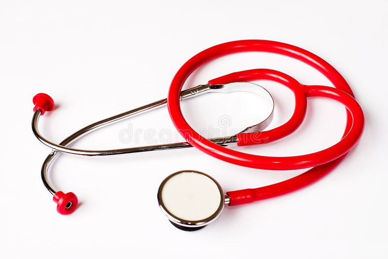 rött stetoskop royaltyfri bild