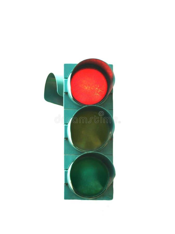 Rött stopptrafikljus för korsningsskärning arkivfoto