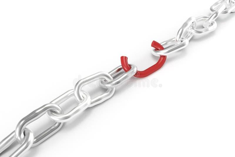 rött svagt för chain sammanlänkning vektor illustrationer