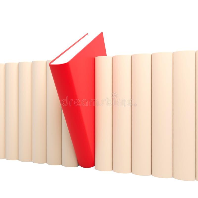 rött unikt för bok fotografering för bildbyråer