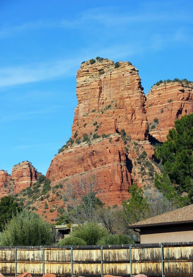 Rött vagga berget nära Sedona, Arizona royaltyfri foto
