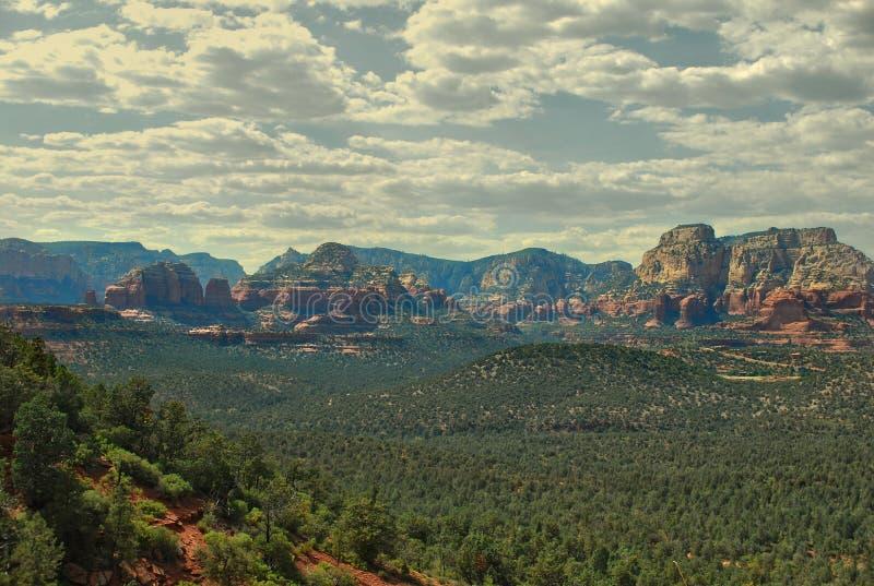 Rött vagga delstatsparken, sedonaen, arizona, USA arkivfoto