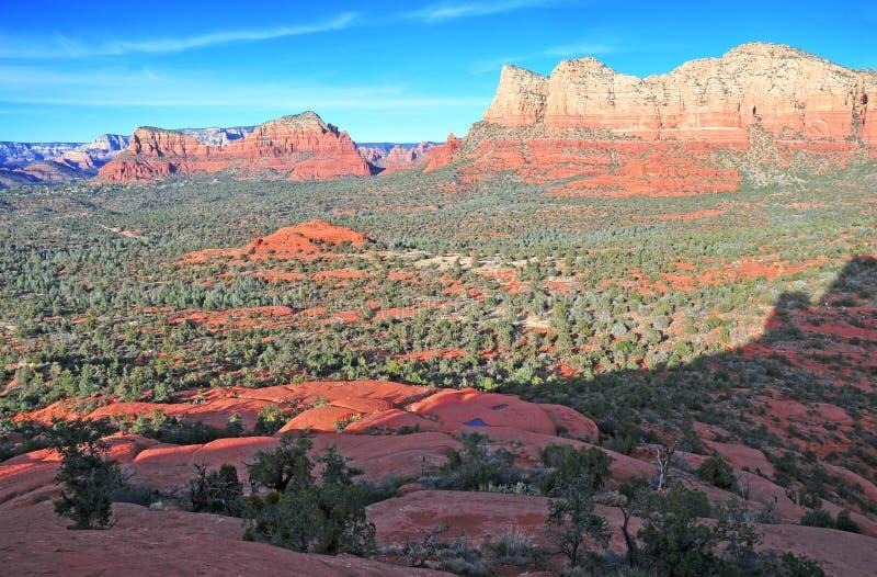 Rött vagga landskapet i Sedona, Arizona, USA arkivfoton