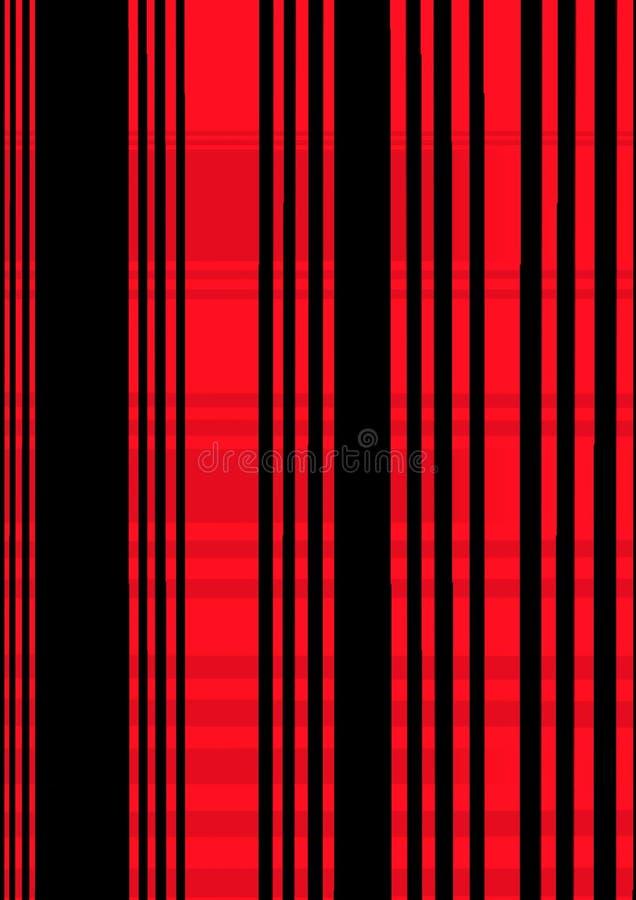 Rött vertikalt suddigt glöda fodrar på den svarta bakgrunden Rök och flamma Illustration för designprydnadmall stock illustrationer