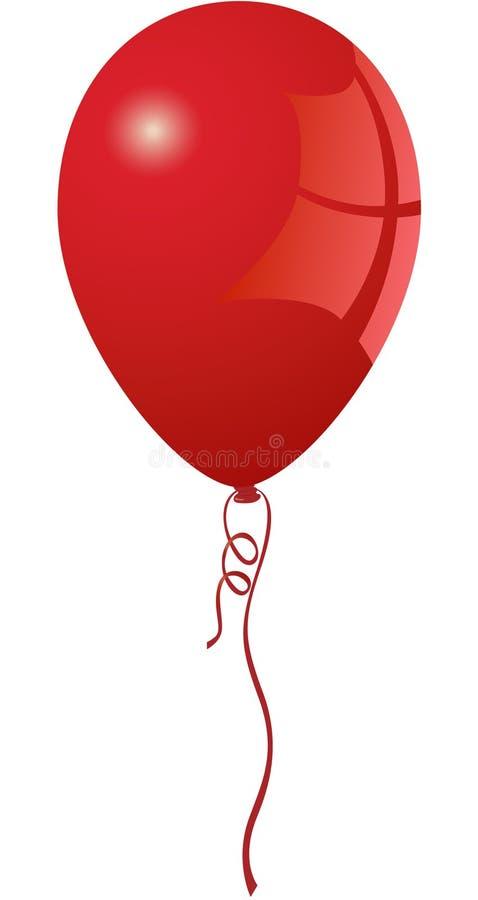 rött vibrerande för ballong stock illustrationer