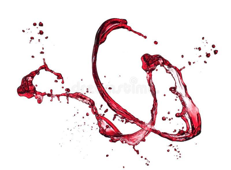 Rött vinfärgstänk royaltyfria bilder