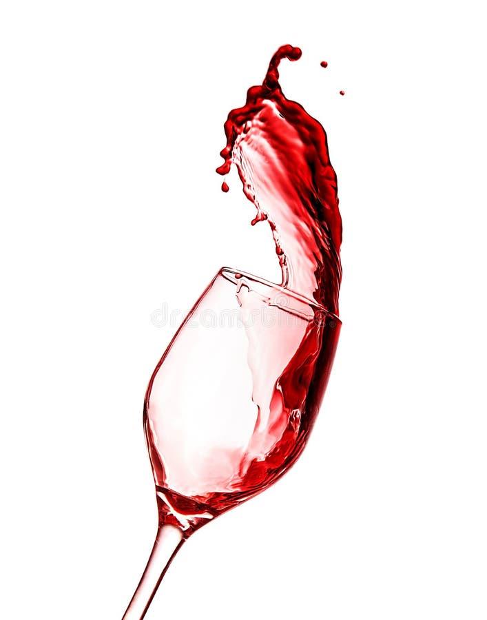 Rött vinfärgstänk royaltyfria foton