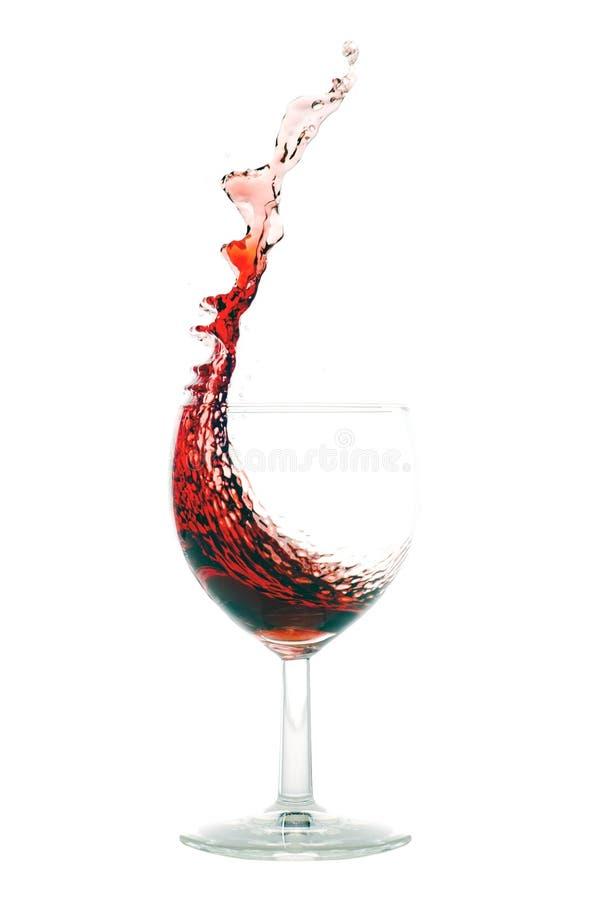 Rött vinfärgstänk arkivfoton