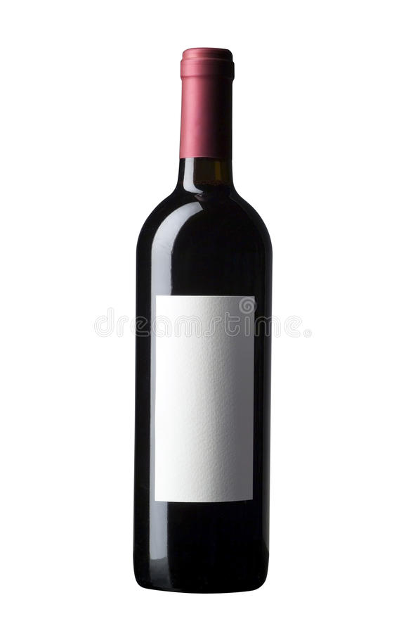 Rött vinflaska royaltyfri fotografi