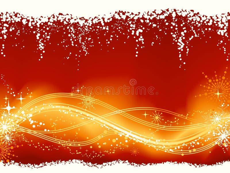 rött wavy för abstrakt guld- modell vektor illustrationer