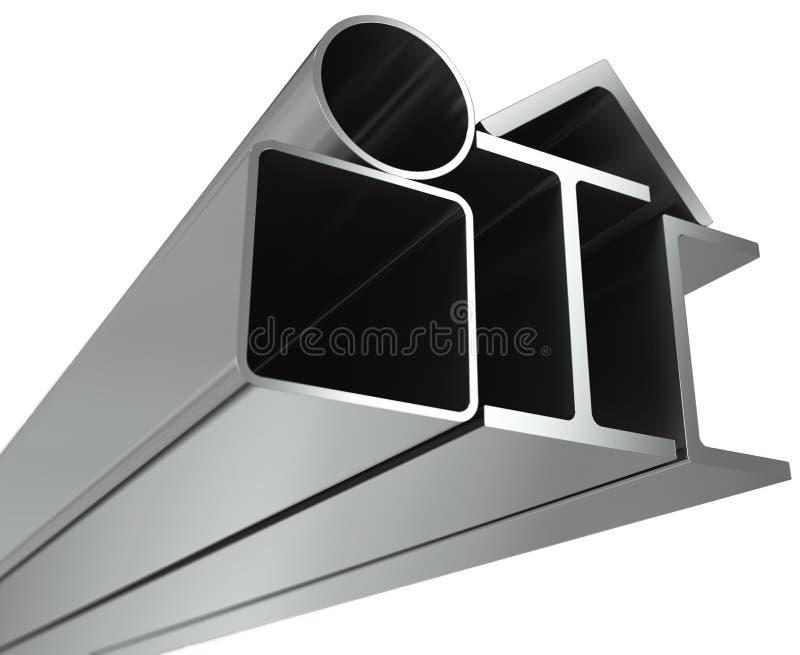 rør för metall för vinkelkanalbalkar royaltyfri illustrationer