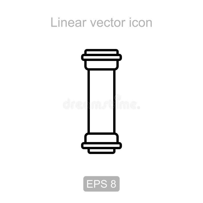 rør Linjär symbol stock illustrationer