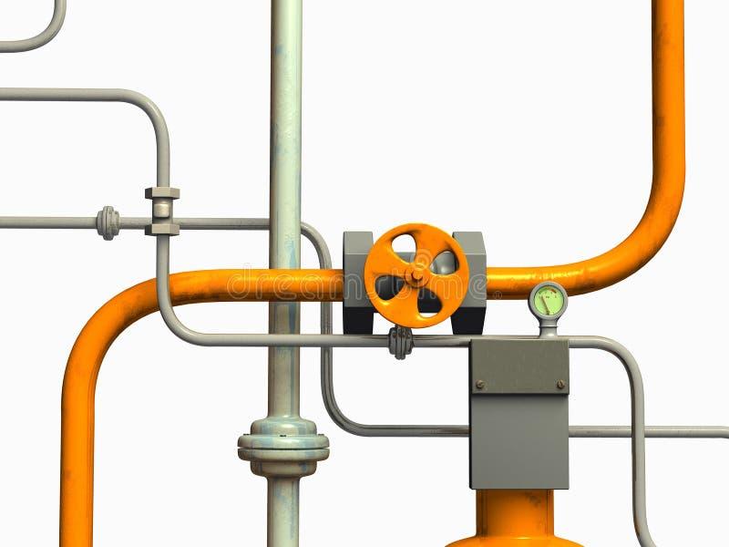 rørsystem stock illustrationer