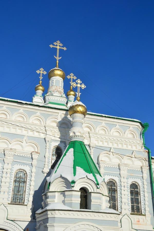 Rússia, Arkhangelsk, igreja de Saint Zosima, Savvatiy e Herman de Solovki O metochion do monastério de Solovetsky fotos de stock