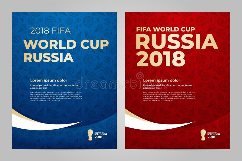 Rússia 2018 copos molde ilustração royalty free