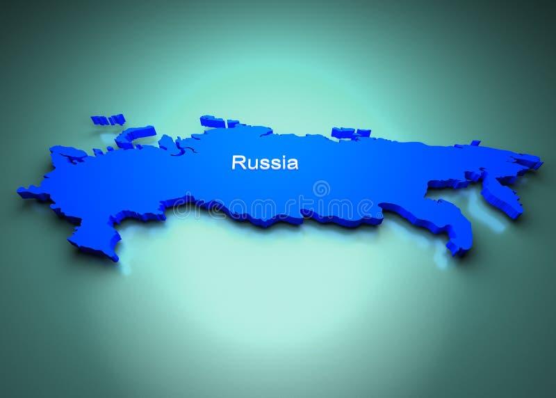 Rússia do mapa de mundo ilustração do vetor