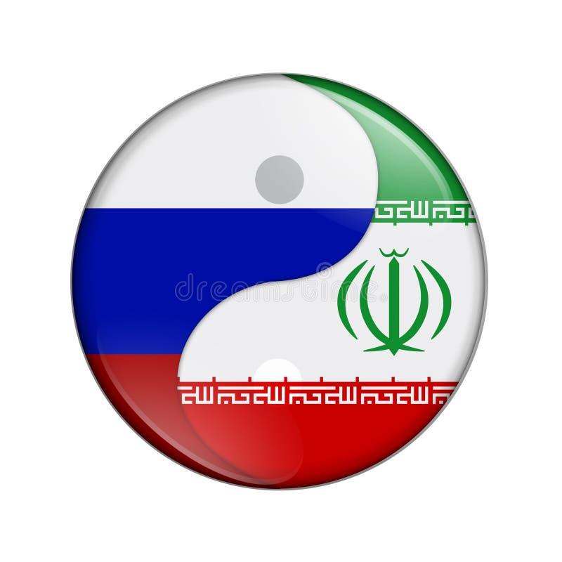Rússia e Irã que trabalham junto ilustração stock