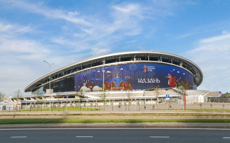 Rússia, Kazan - 3 de junho de 2018: Estádio da arena de Kazan Local de encontro FI 2018 imagens de stock royalty free