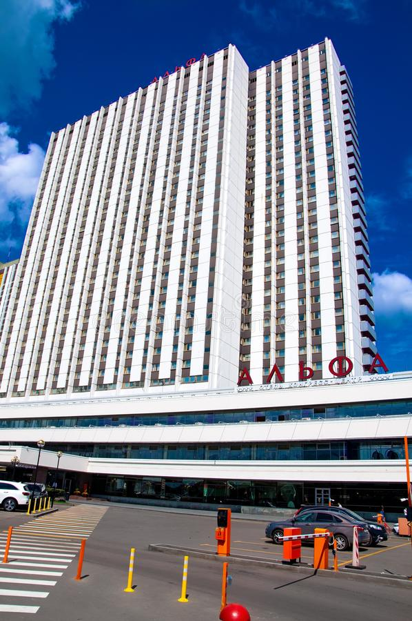 Rússia, Moscou 27 de julho de 2019: Alfa de Izmailovo do hotel 4 estrelas fotografia de stock royalty free