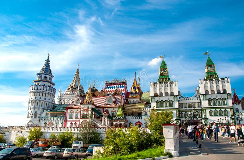 Rússia, Moscou 27 de julho de 2019: Kremlin de Izmailovo foto de stock royalty free