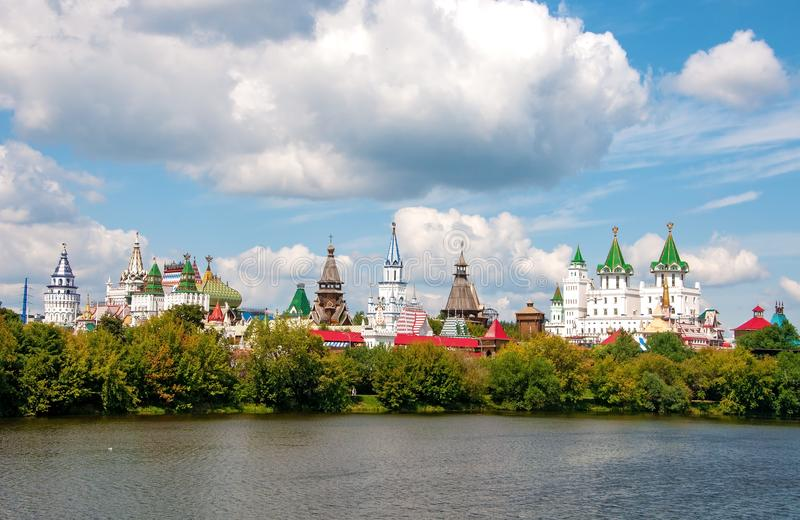 Rússia, Moscou 27 de julho de 2019: Kremlin de Izmailovo imagem de stock