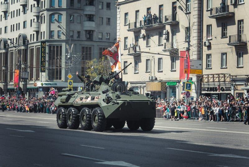 Rússia, Moscou, 09, em maio de 2015: Victory Parade fotografia de stock