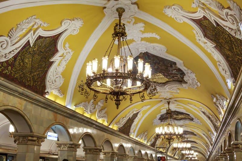 Rússia, Moscou, estação de metro de Komsomolskaya foto de stock royalty free